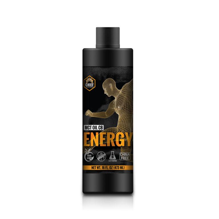 100% MCT Oil (95% C8 MCT Oil) – Energy 16 fl oz (473 ml)