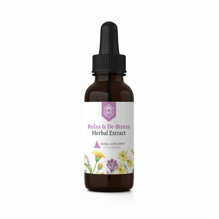 Relax & De-Stress Herbal Extract 2fl oz (60ml)